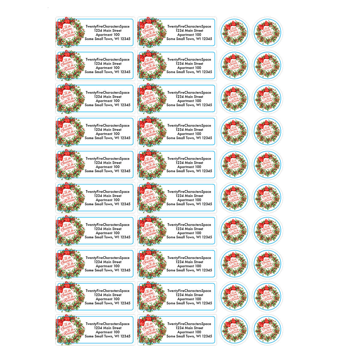 Personalized tis the reason address labels seals 20 364765