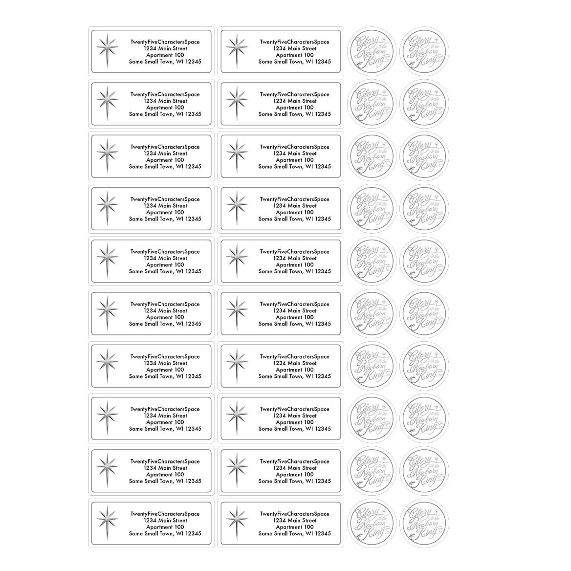 personal design label cross address labels walter drake
