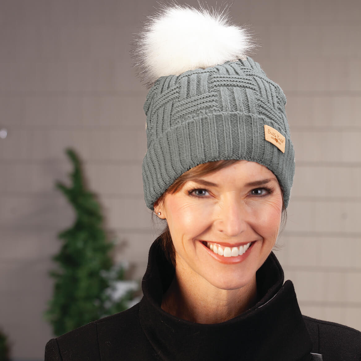 Britts Knits™  Plush Lined Knit hat w/Pom-364847