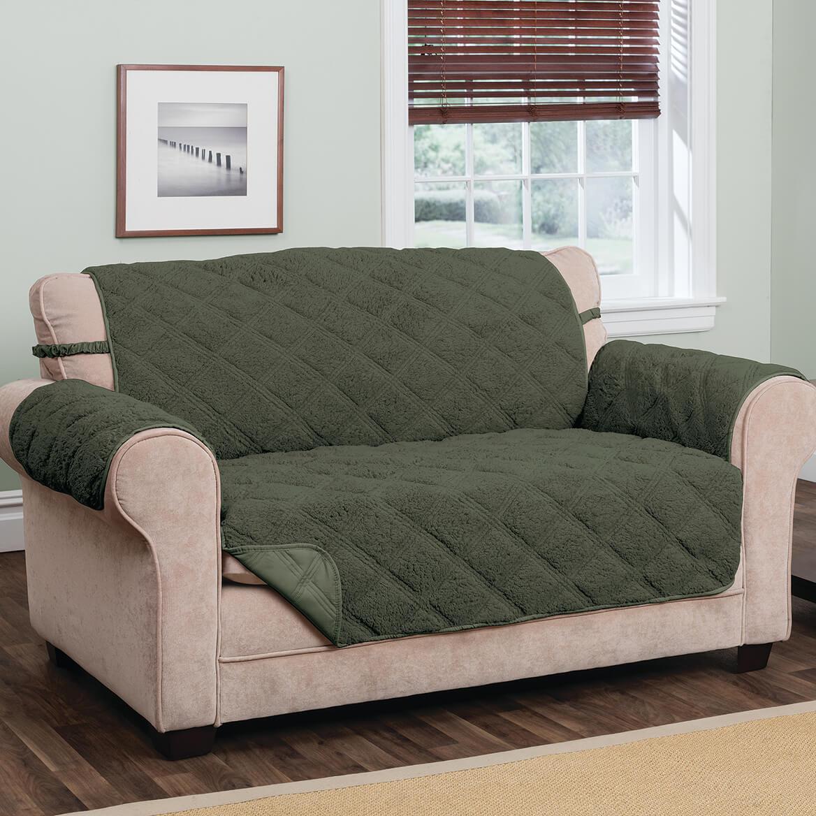 Hudson Waterproof Sherpa Sofa Protector by OakRidge-365404
