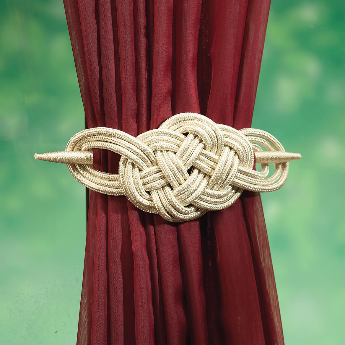 Braided Curtain Tie-Backs, Set of 2-365682
