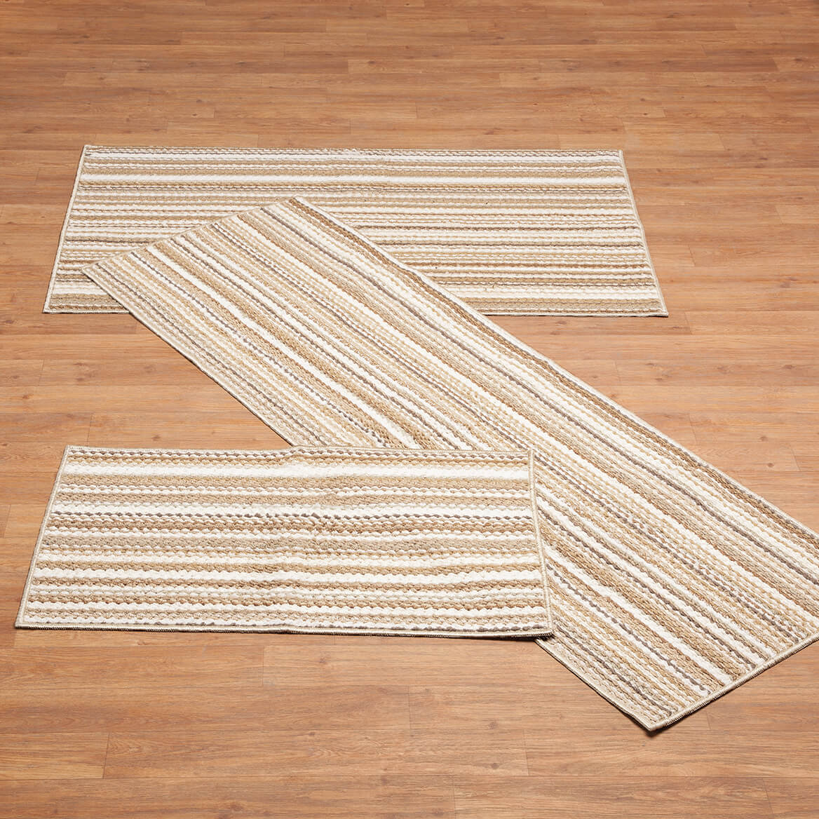 Berber 3-Piece Stripe Rug Set-366069