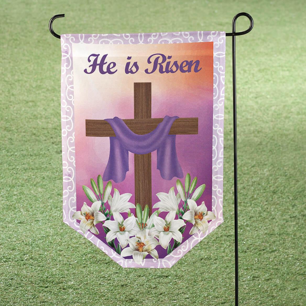 He Is Risen Garden Flag-366336