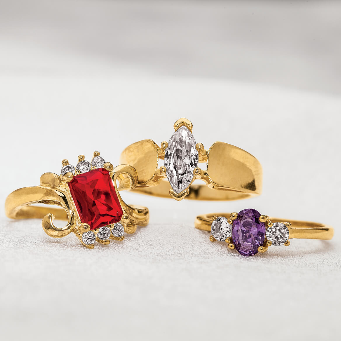 Fashion Rings, Set of 3-366710