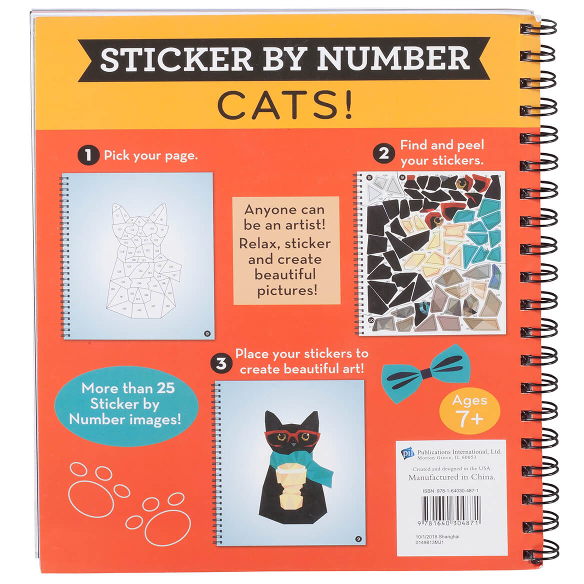 Brain Games® Sticker by Number Cats! Book-367334