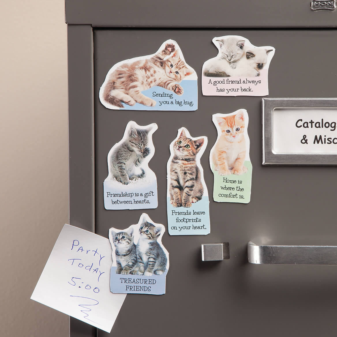 5b62a6338f Cat Silhouette Fridge Magnets - Cat Magnets - Walter Drake