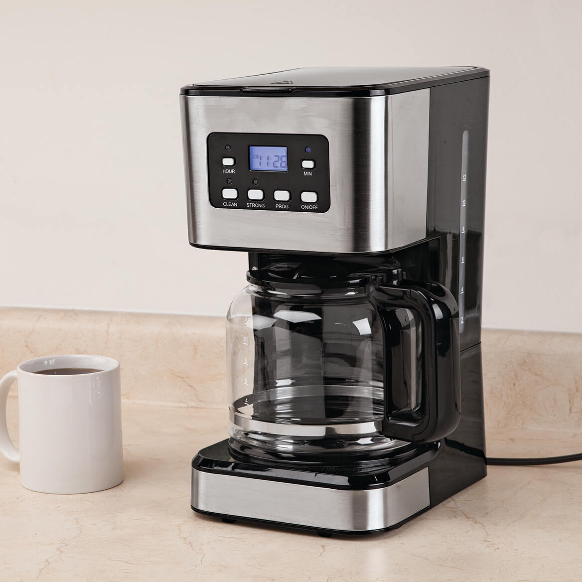 12 Cup Programmable Coffee Maker by Home Marketplace-367504