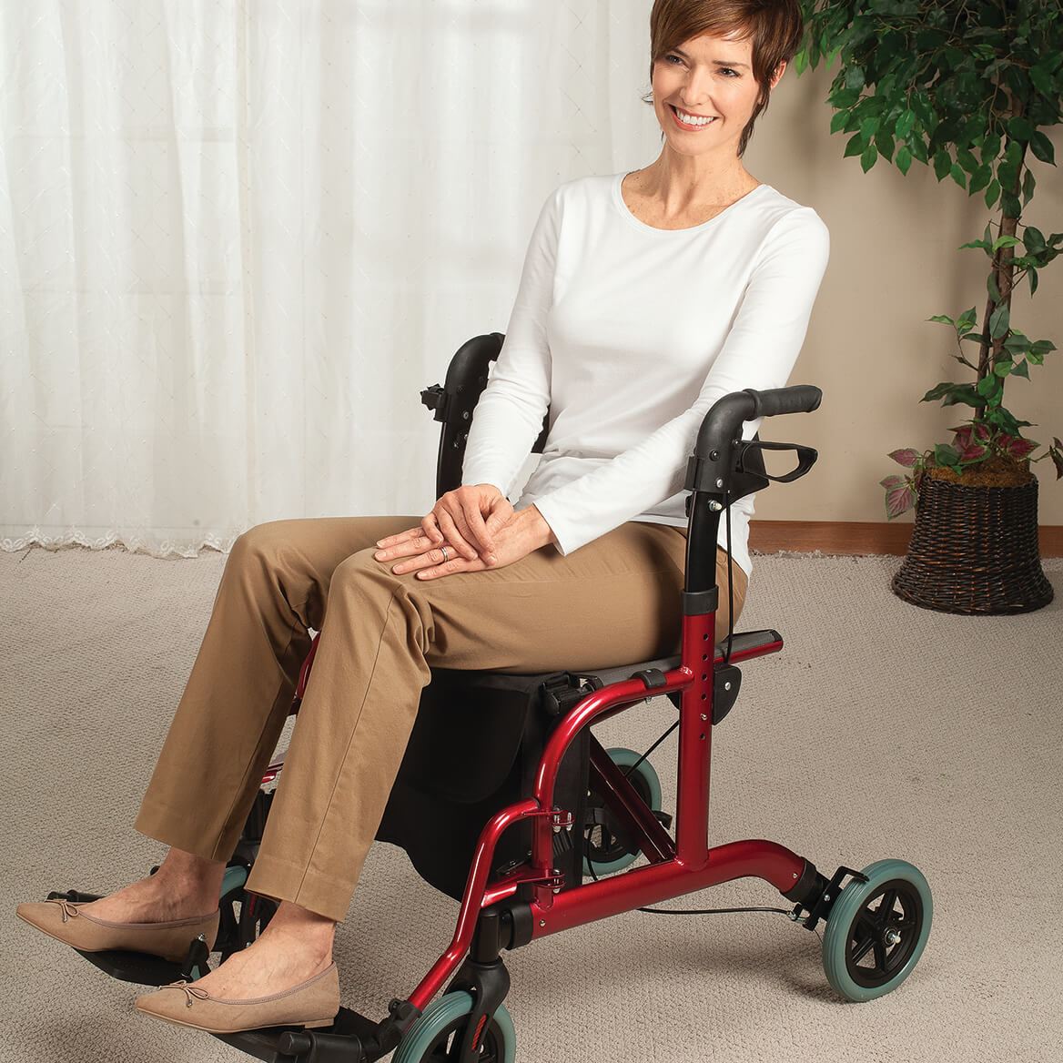 Rollator and Transport Chair in 1            XL-367537