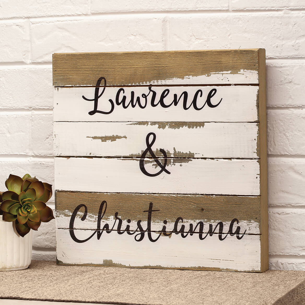 Custom Names Reclaimed Wood Sign by Sweet Bird & Co.-367664