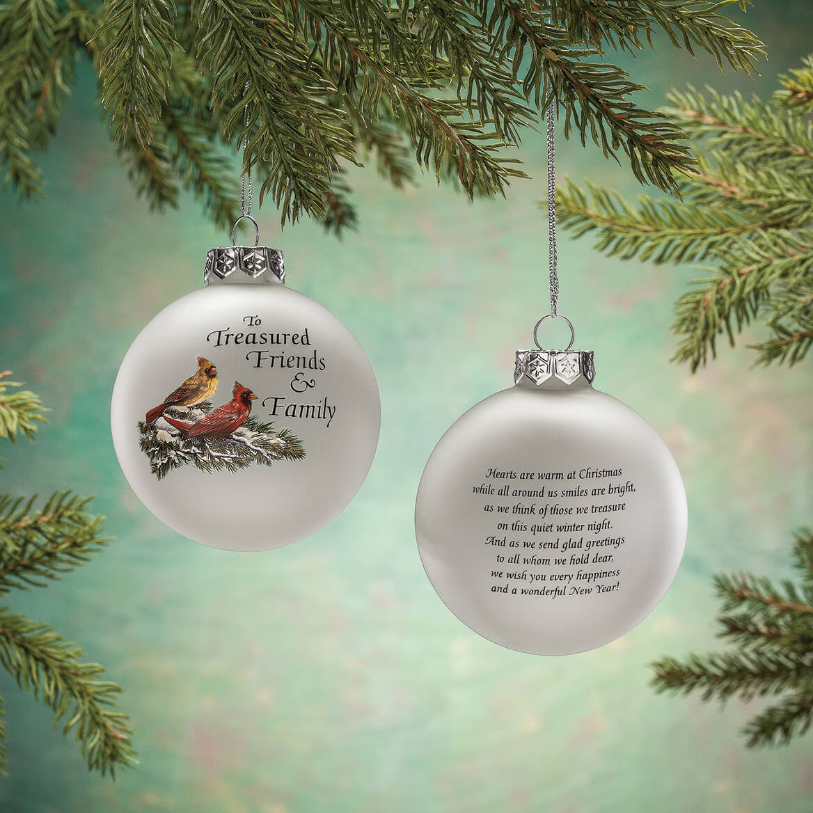 Treasured Friends Glass Ball Ornament by Holiday Peak™-367957
