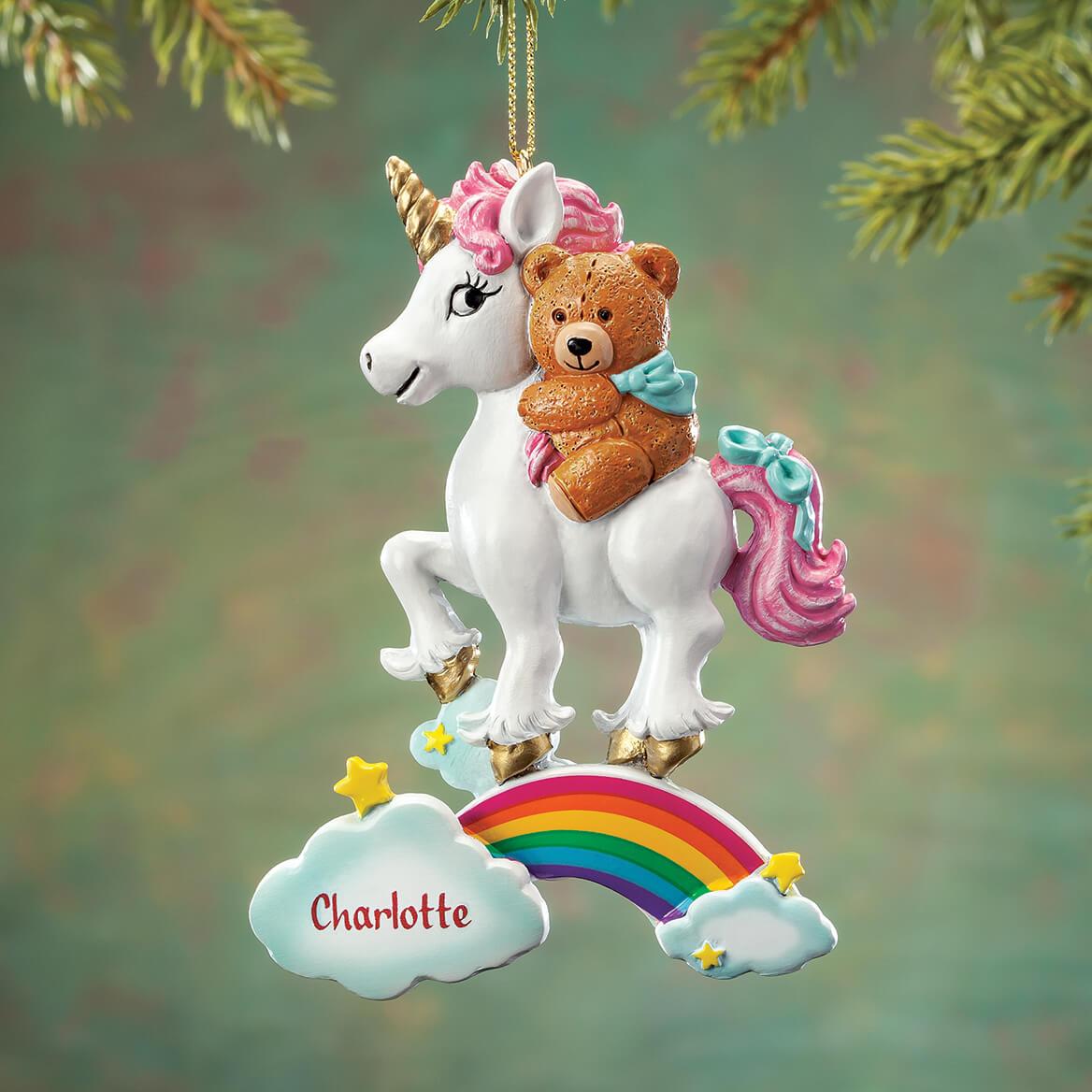 Personalized Teddy Bear & Unicorn Ornament-368110