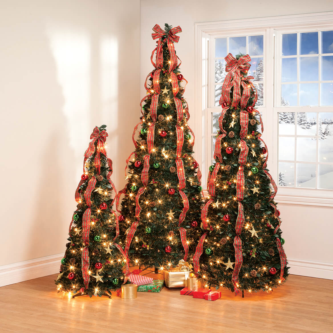 7' Plaid Pull-Up Tree by Holiday Peak™      XL-368144