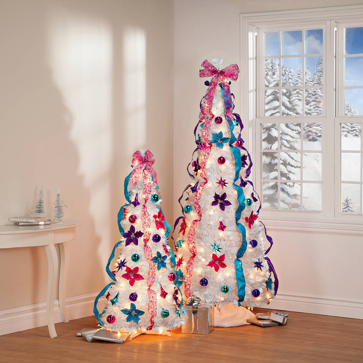 4' Jewel Tone Pull-Up Tree by Holiday Peak™-368145