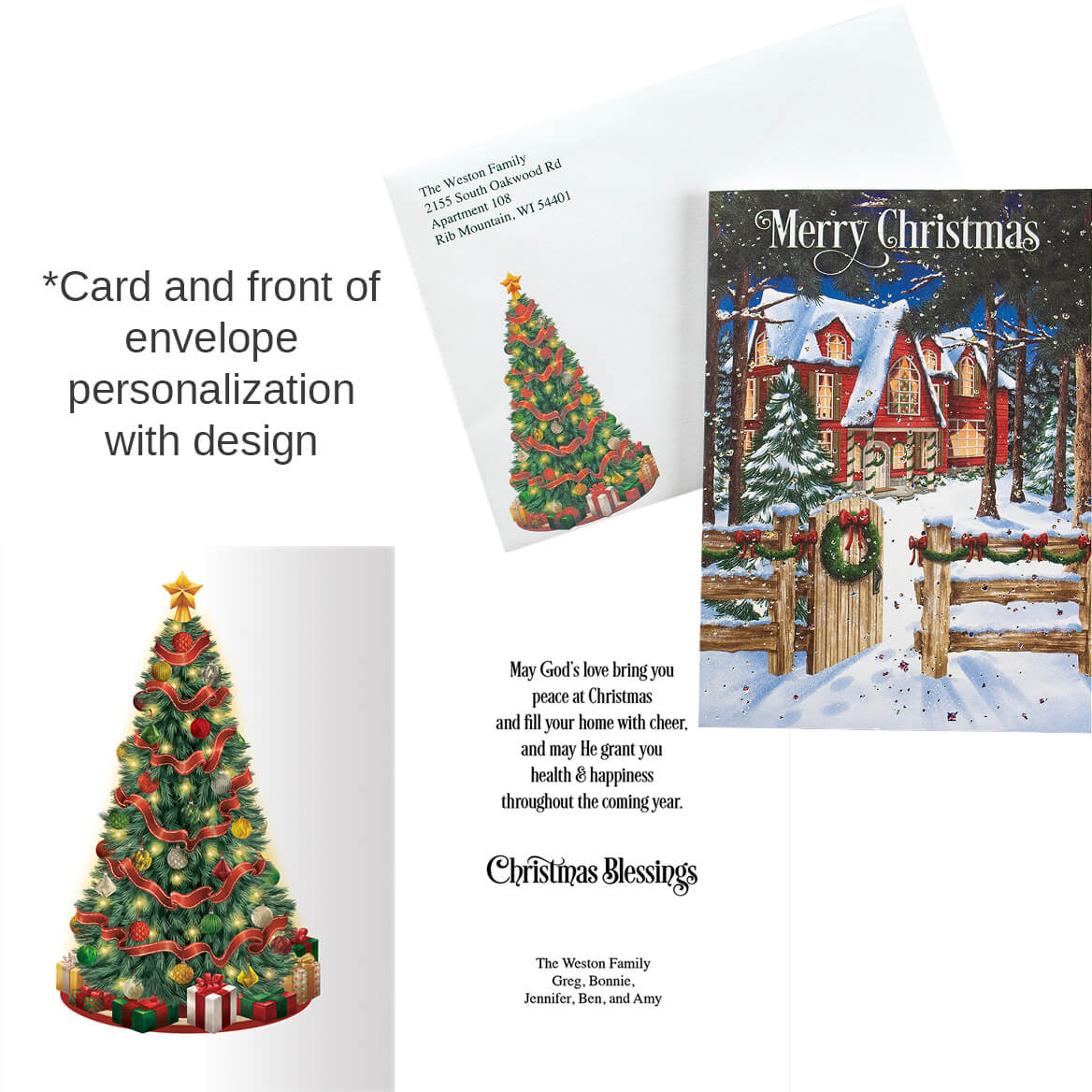 Personalized Home for the Holidays Christmas Card Set of 20-368241