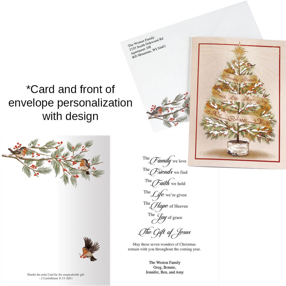 Twinkling Ornaments - Di Cut Christmas Card - Walter Drake