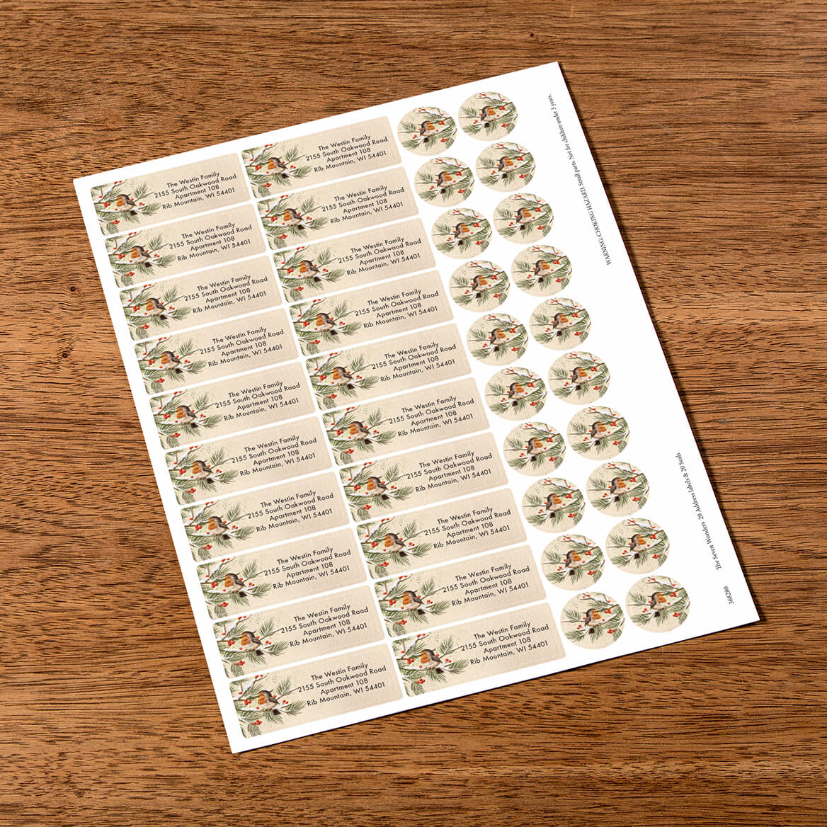 Personalized The Seven Wonders Labels & Seals 20-368280