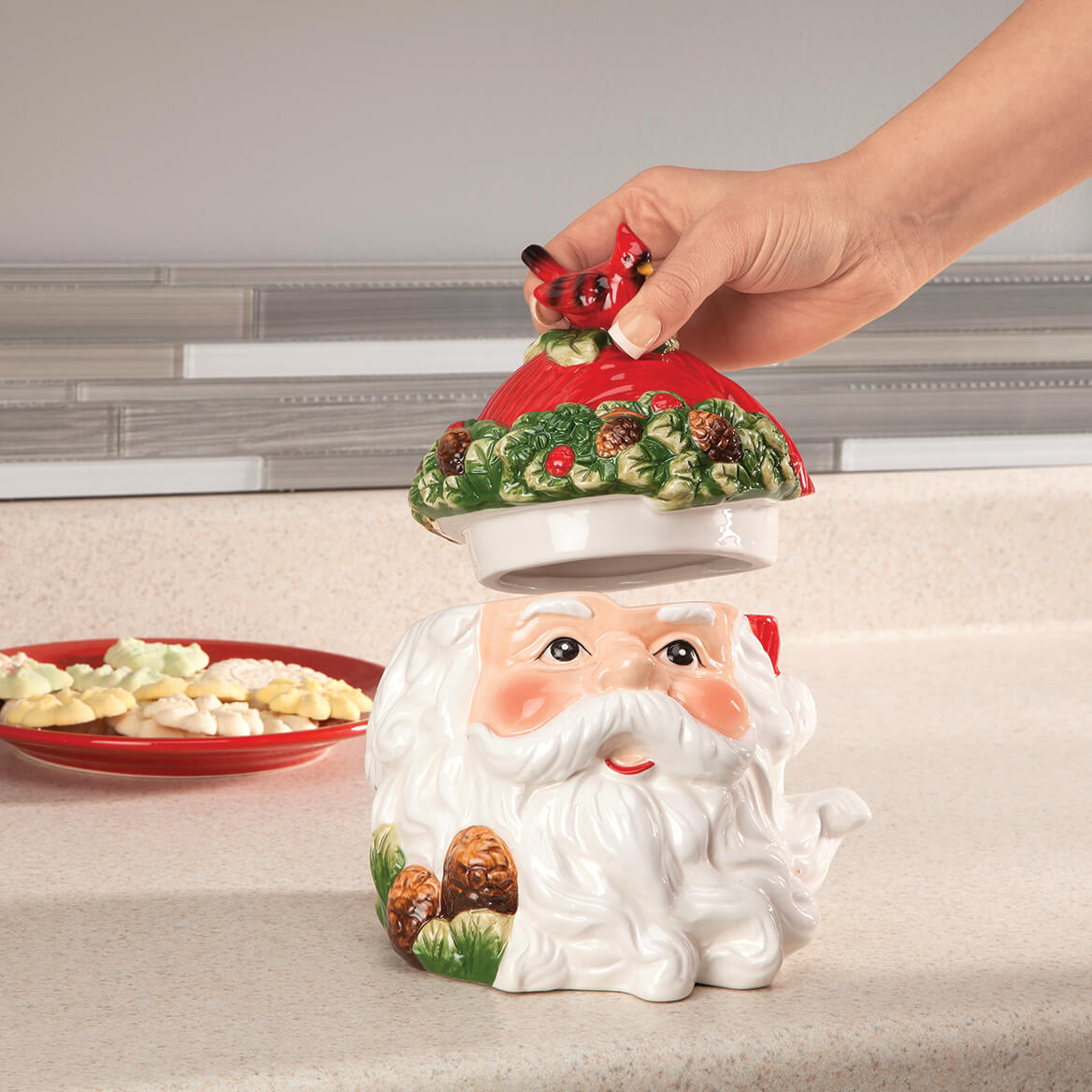 Holiday Santa Cookie & Treat Jar-368381