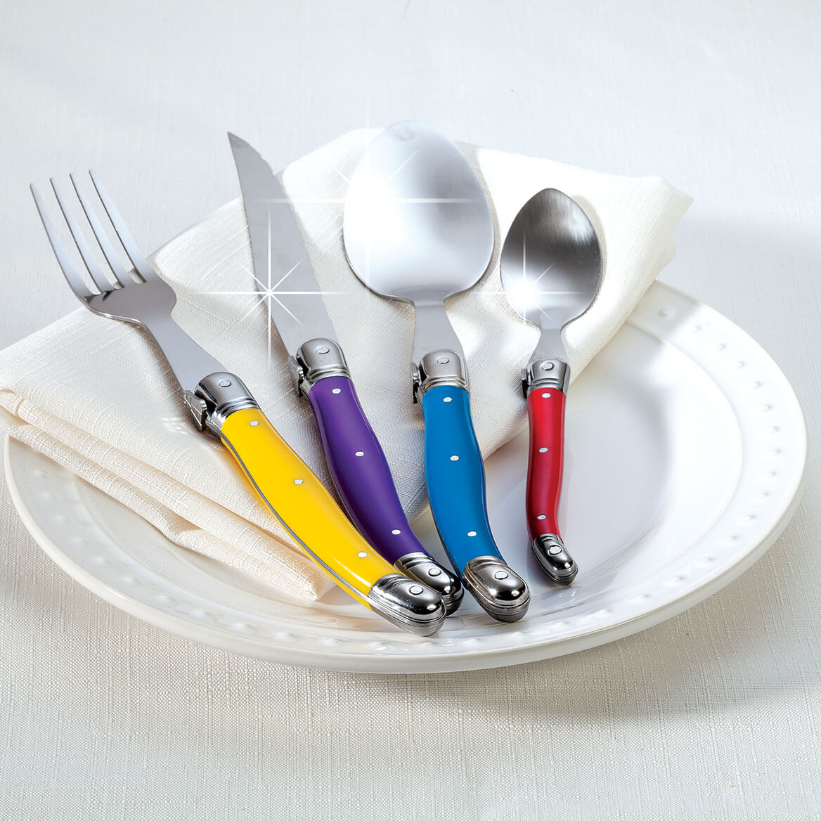 Provence 32 piece Flatware Set by Chef's Pride-368429
