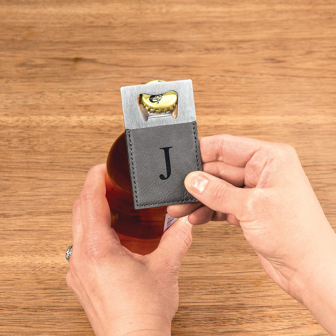 Personalized Grey Bottle Opener-368574