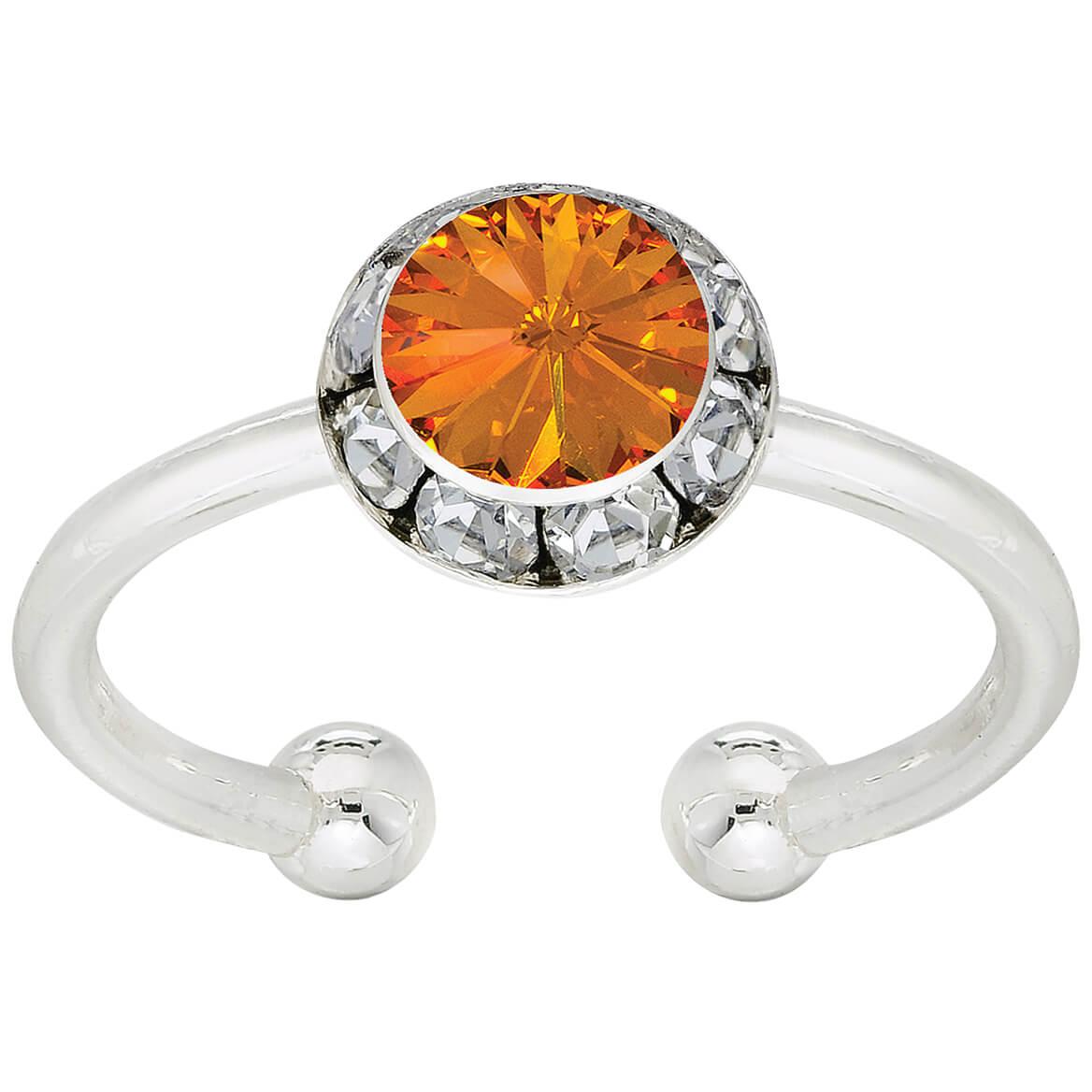 Swarovski Crystal Birthstone Adjustable Ring-368595