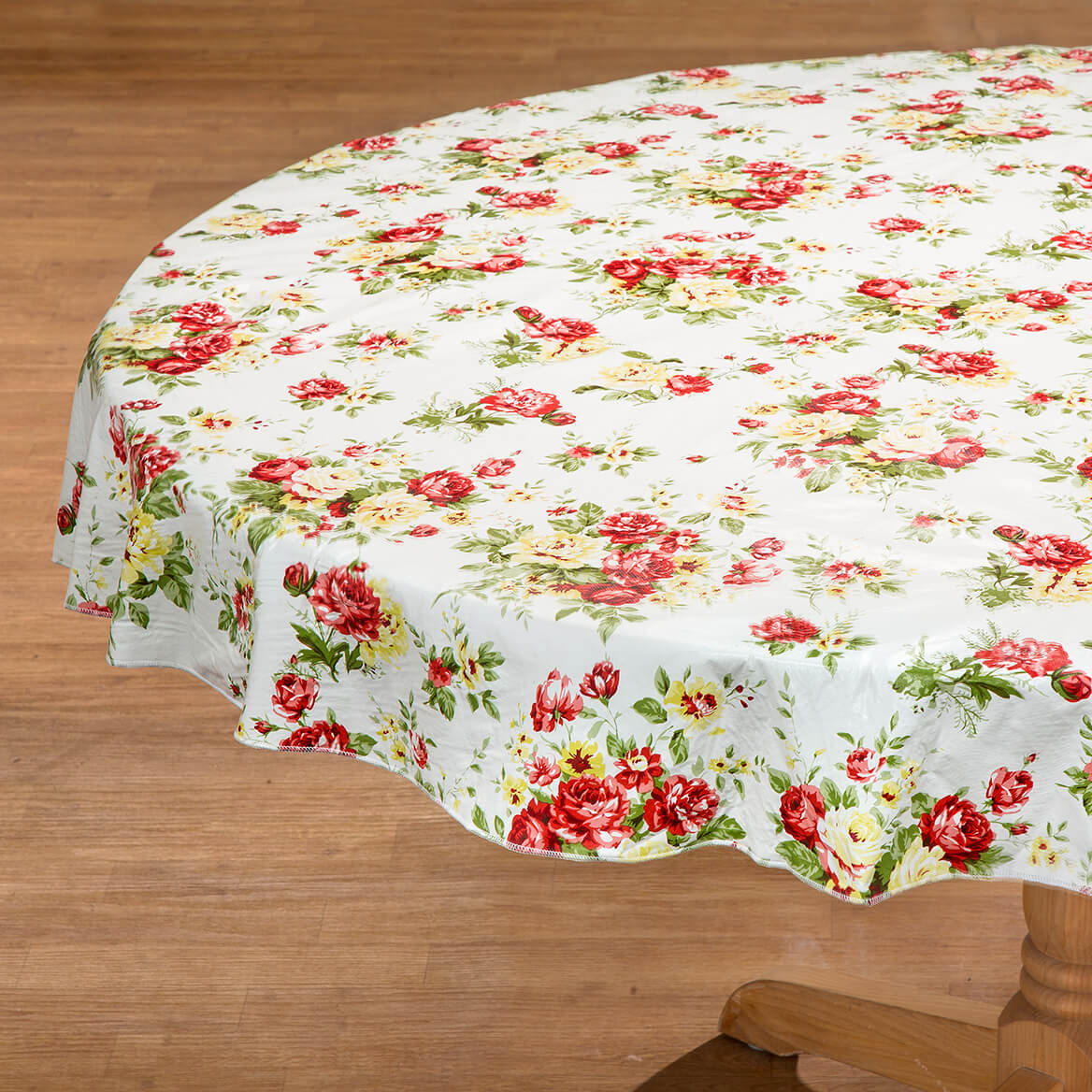 Country Rose Vinyl Table Cover by Chef's Pride-368834