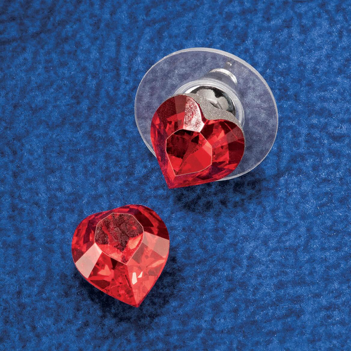 Swarovski Crystals Red Heart Post Earrings-368903