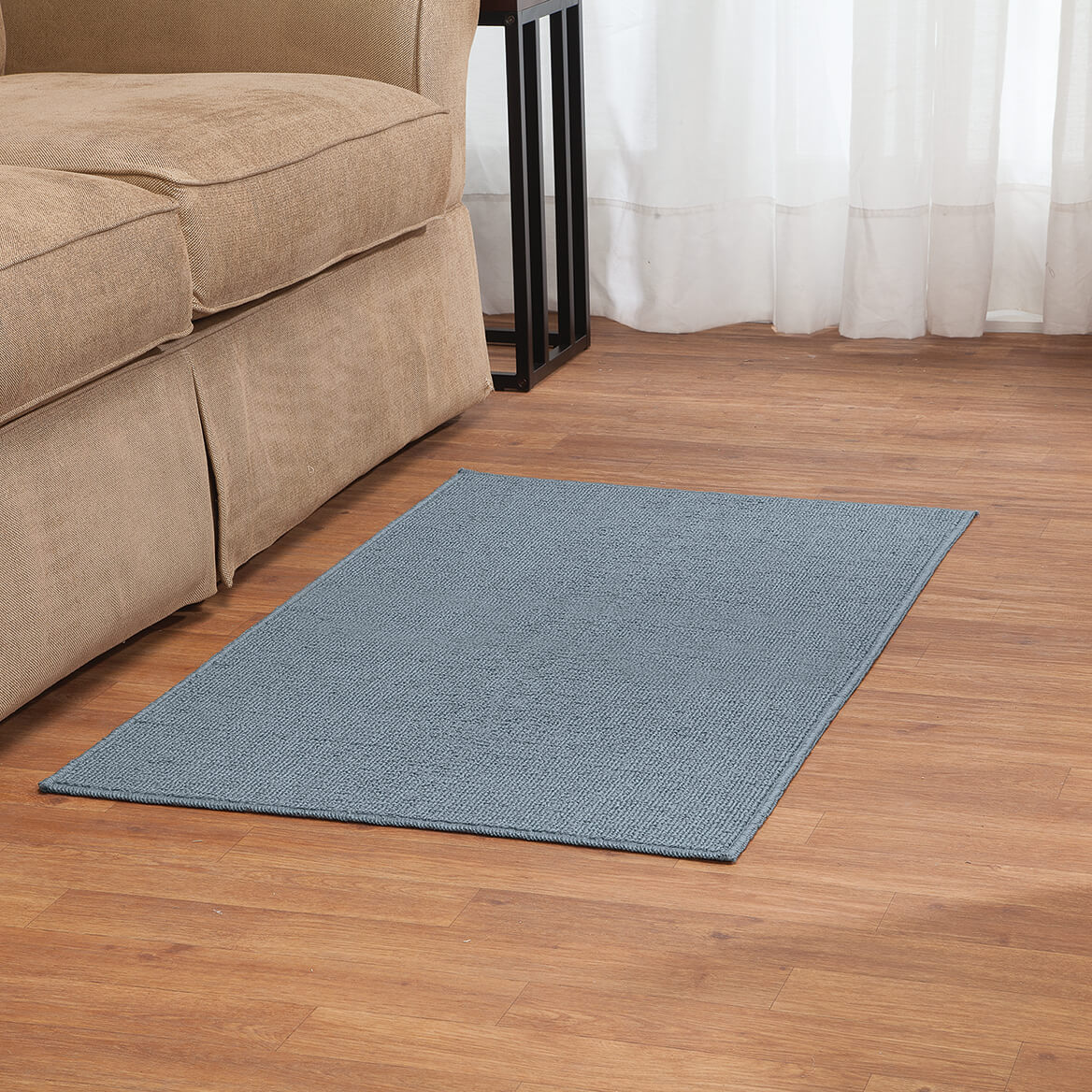 Rugby Solid Colored Rug by Oakridge®, Blue Set of 3-369098