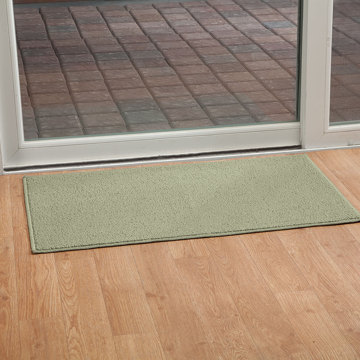 Rugby Solid Colored Rug by Oakridge®, Sage Set of 3-369099
