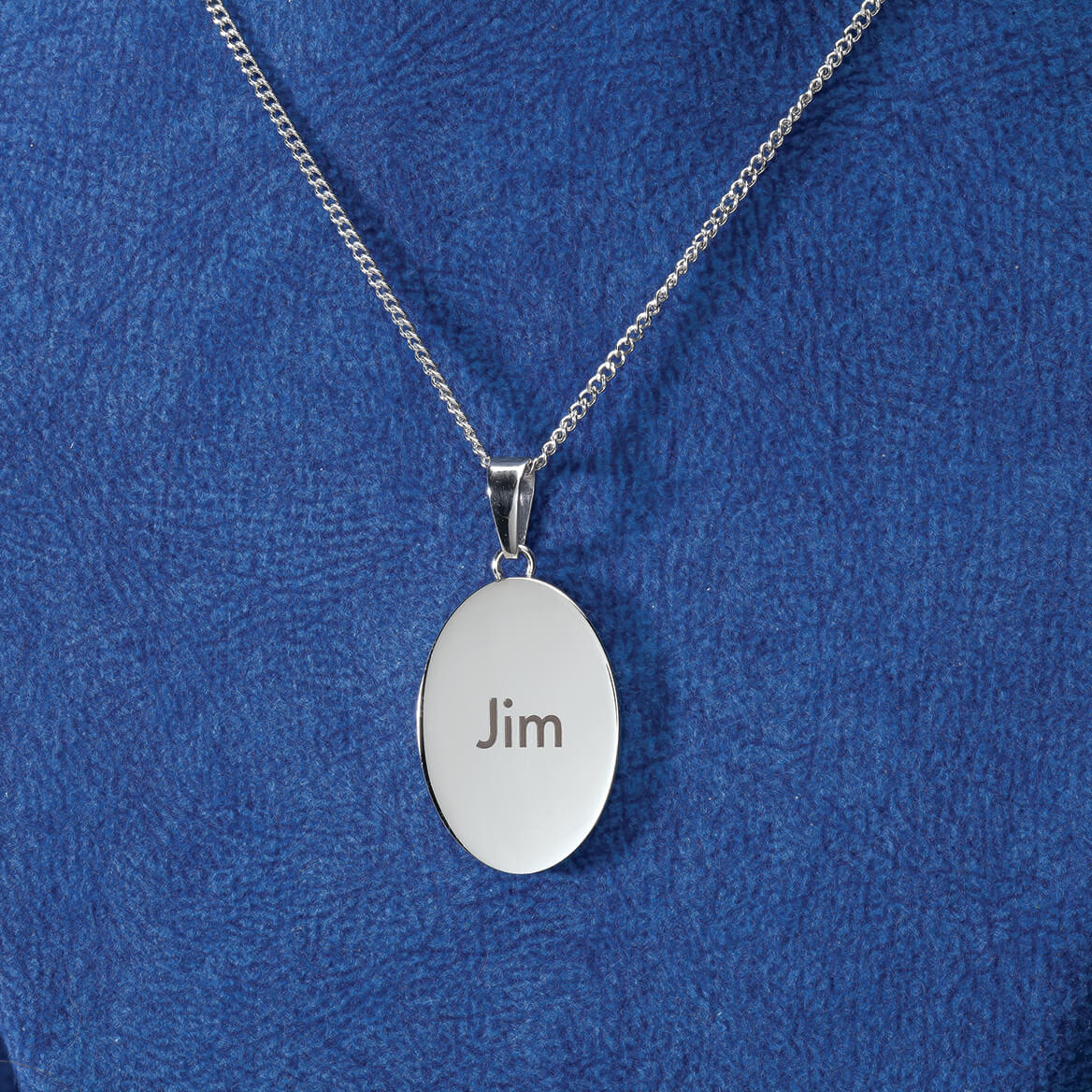 Personalized Miss You Oval Necklace-369411