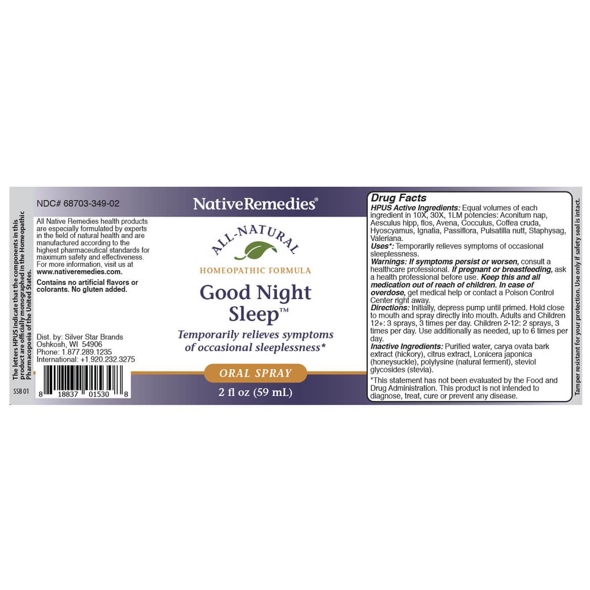 NativeRemedies® Good Night Sleep Oral Spray-369550