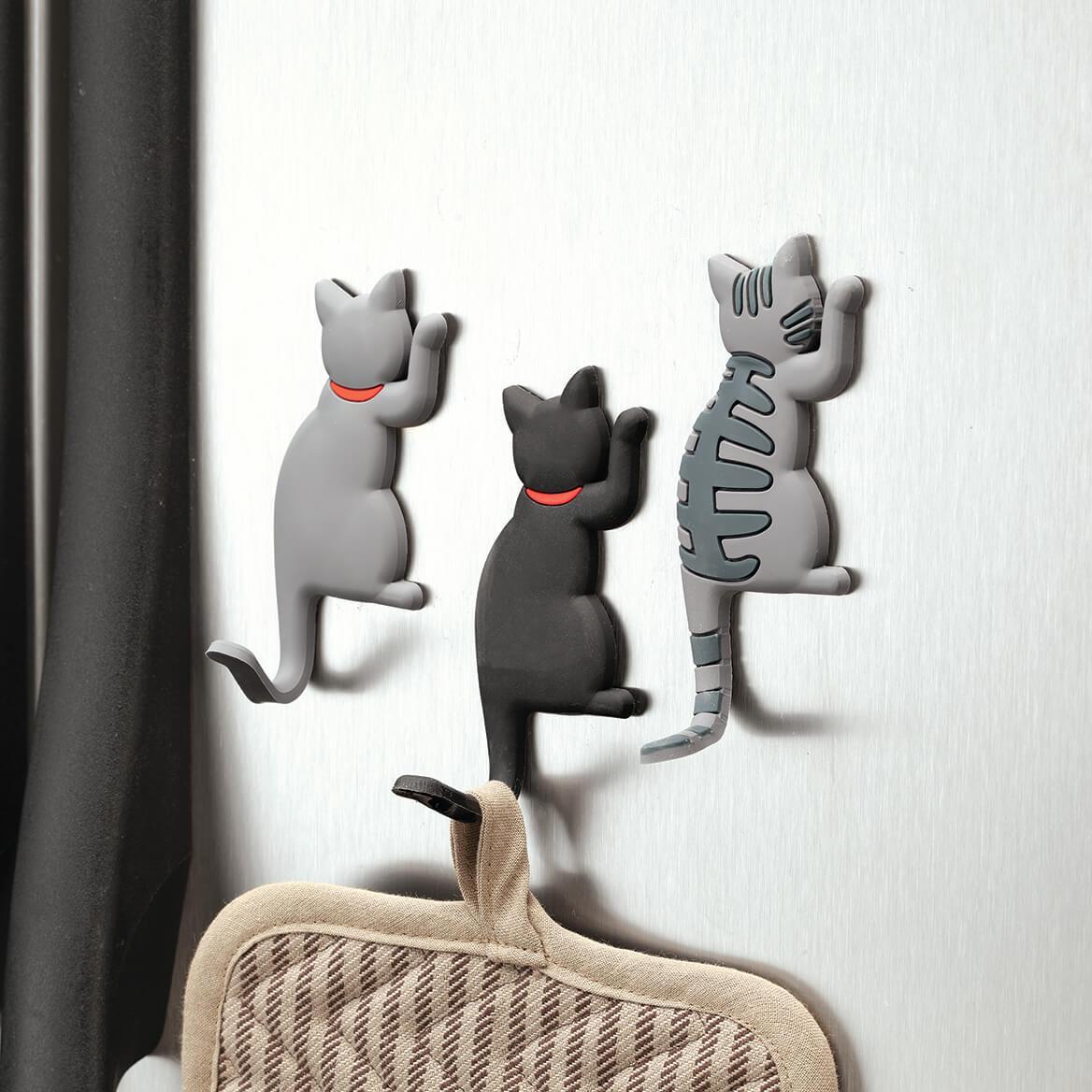 Cat Hook Refrigerator Magnets, Set of 3-369664
