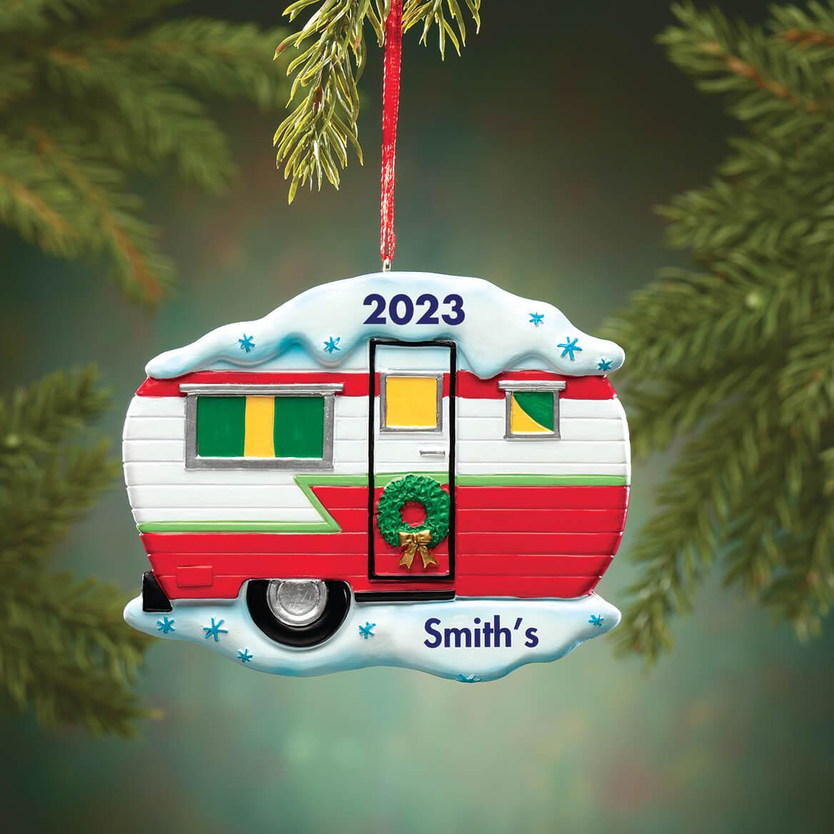Personalized Vintage Camper Ornament-369668