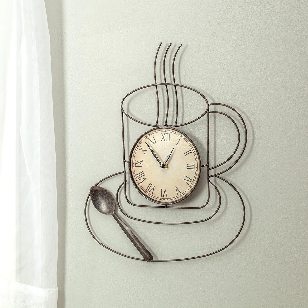 Coffee Kitchen Metal Clock-370373