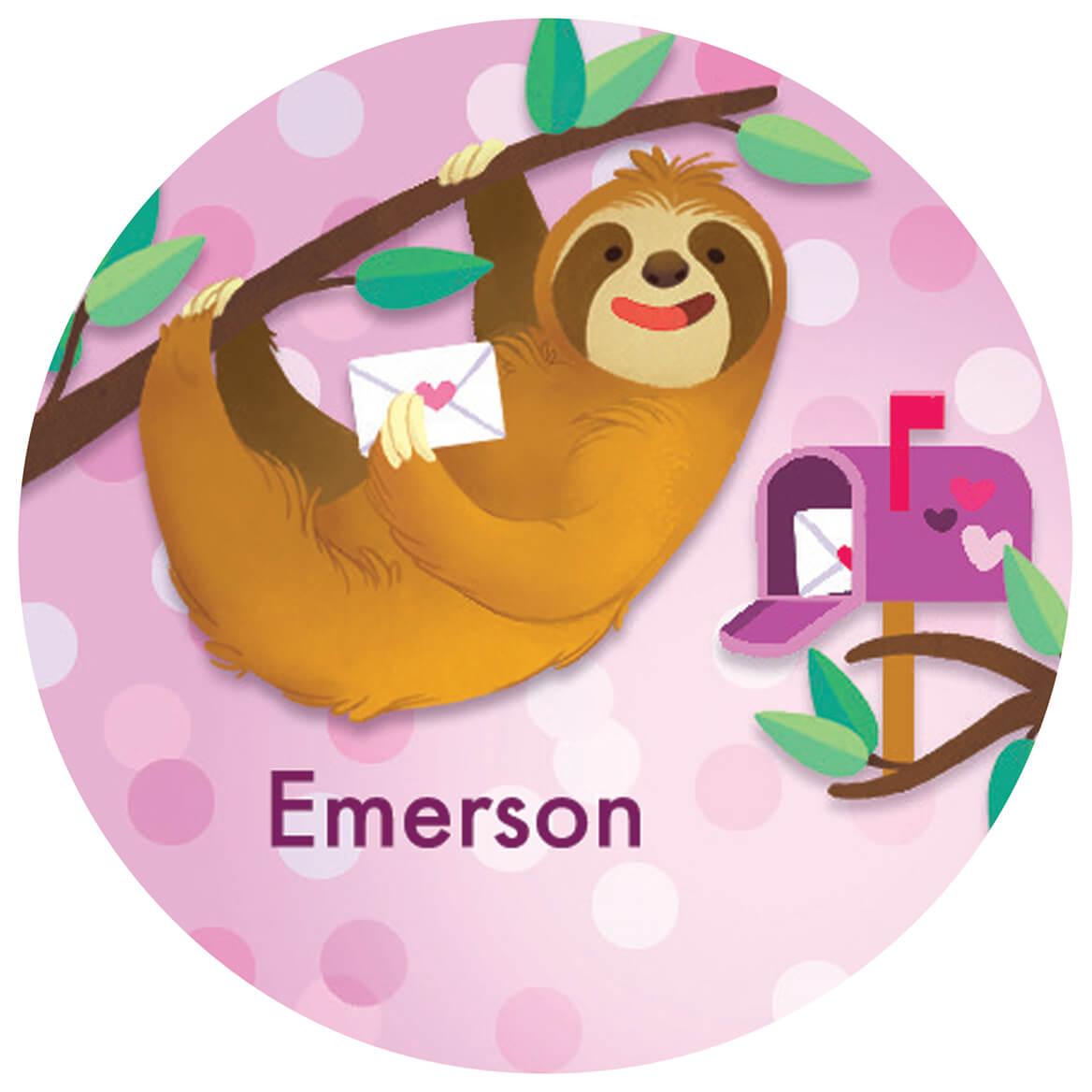 Personalized Children's Valentine's Day Stickers, Set of 240-370376