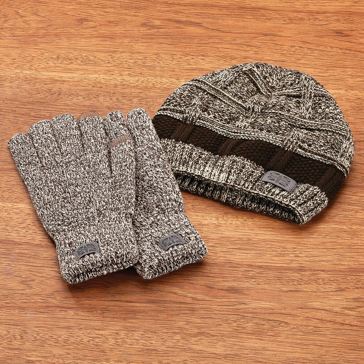 Britt's Knits ™ Men's Frontier Beanie & Gloves Set-370562