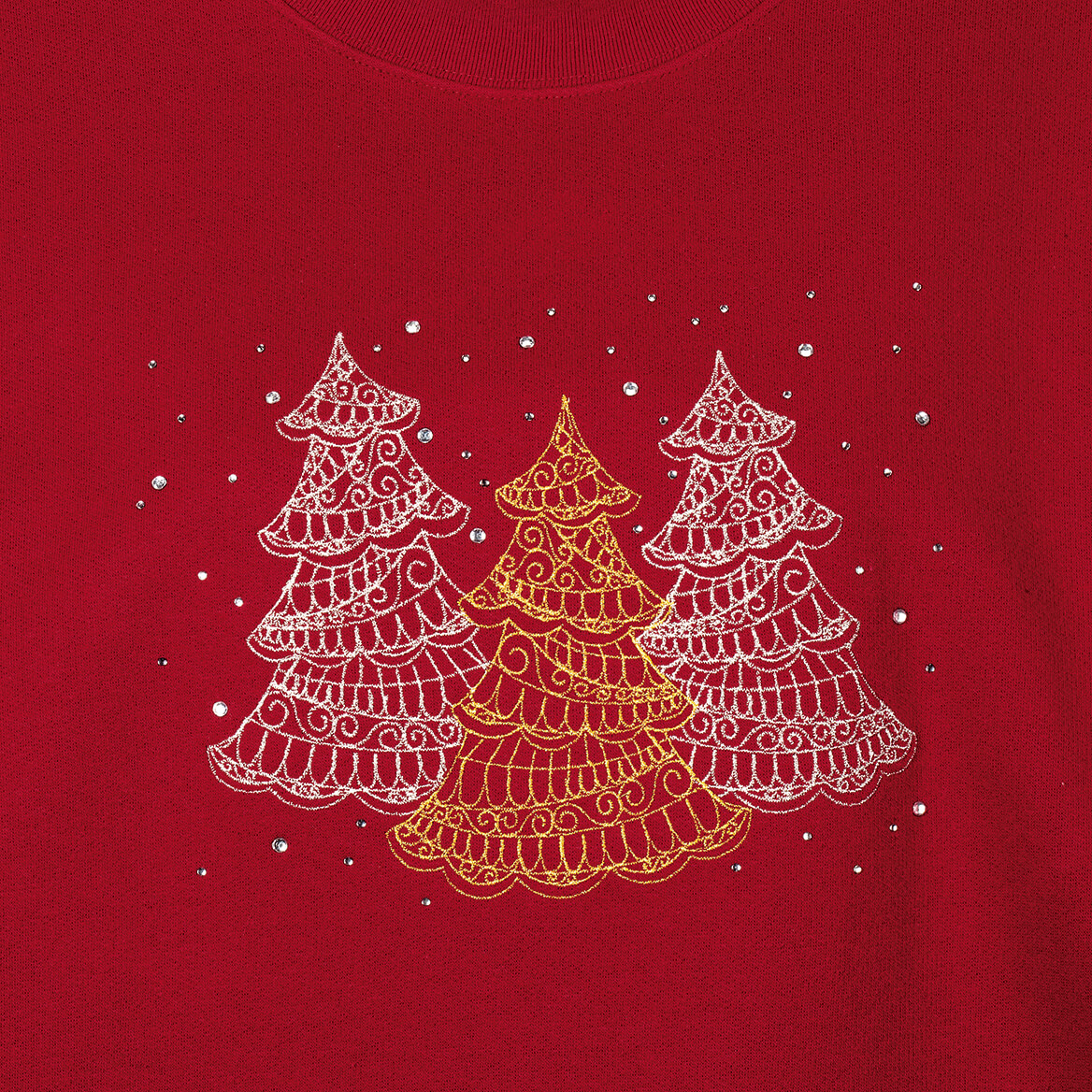 Embellished Winter Tree Scene Sweatshirt by Sawyer Creek™-370678