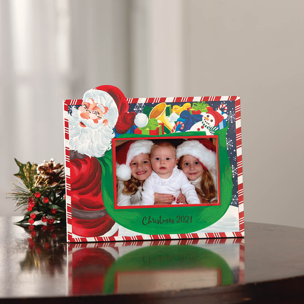 Personalized Santa's Christmas Bag of Presents Frame-370699