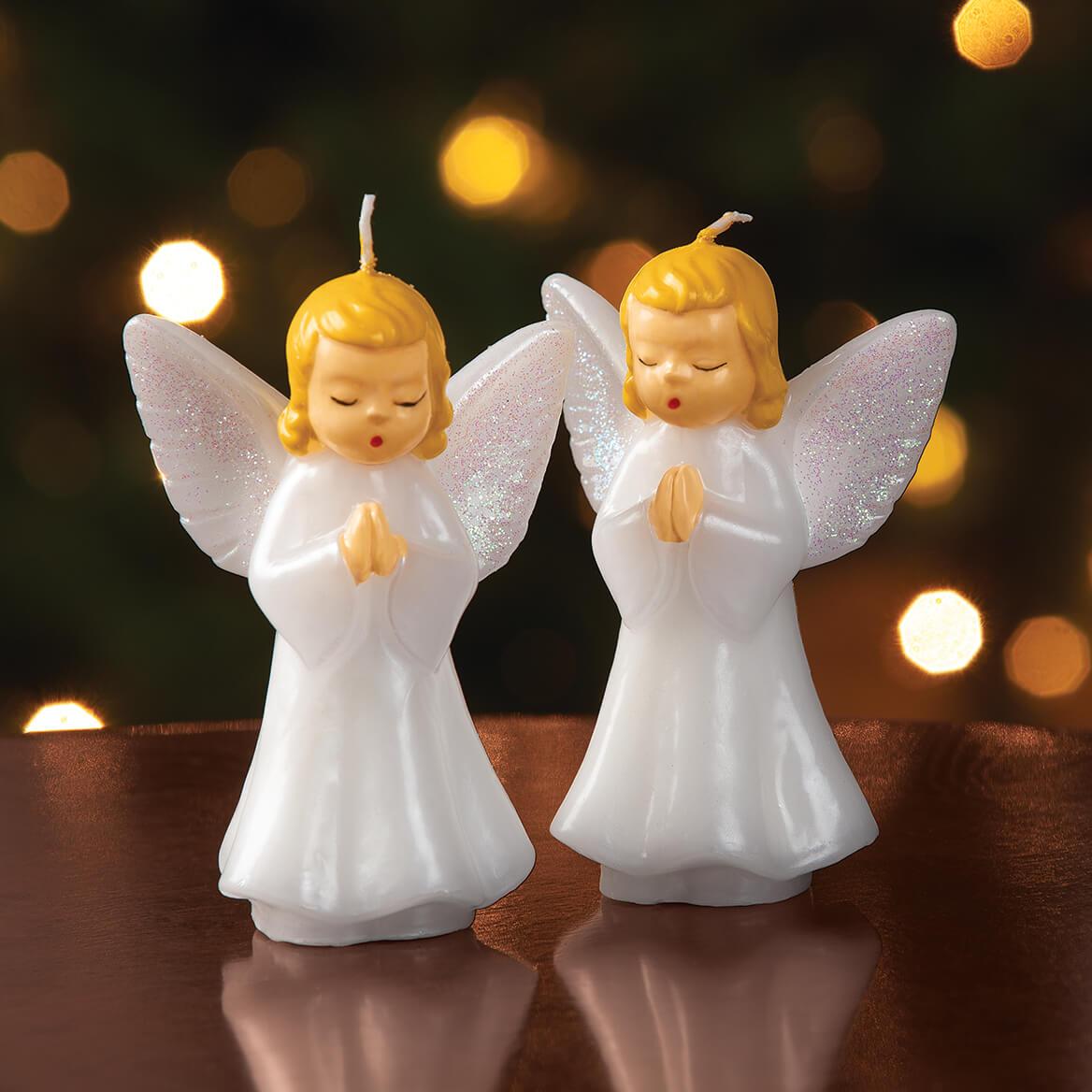 Vintage Praying Angels Candle Pair-370731
