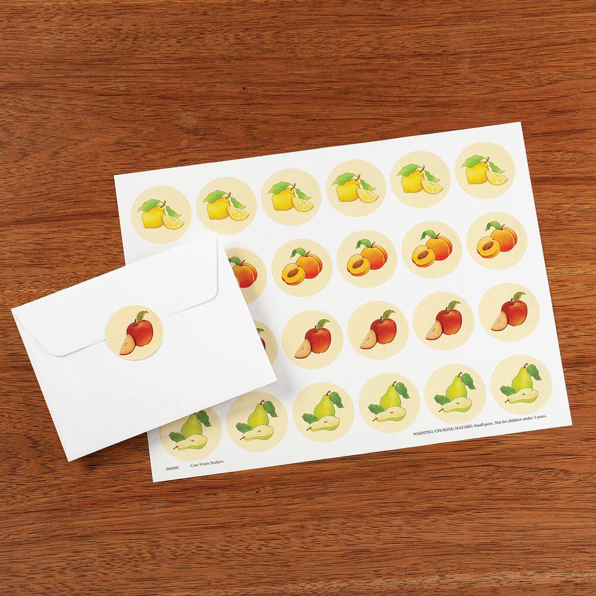 Cute Fruit Seals Set of 48-370826