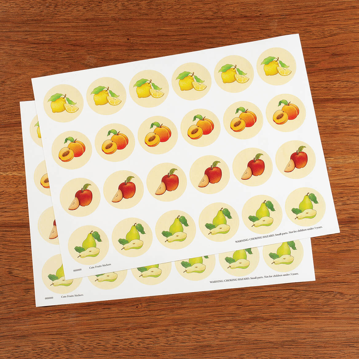 Cute Fruit Seals Set of 48-370826