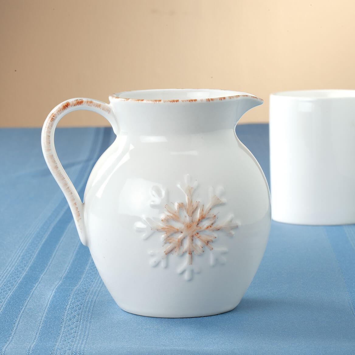 Antiqued Snowflake Petite Milk Pitcher-370897