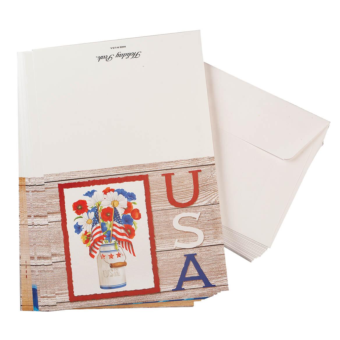 Patriotic Note Cards Set of 20-370929