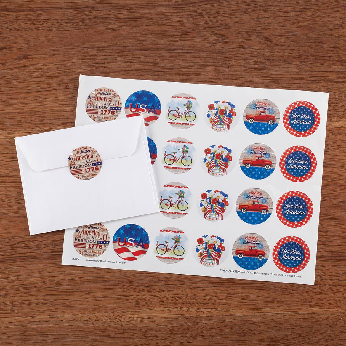 Patriotic Stickers Set of 48-370931