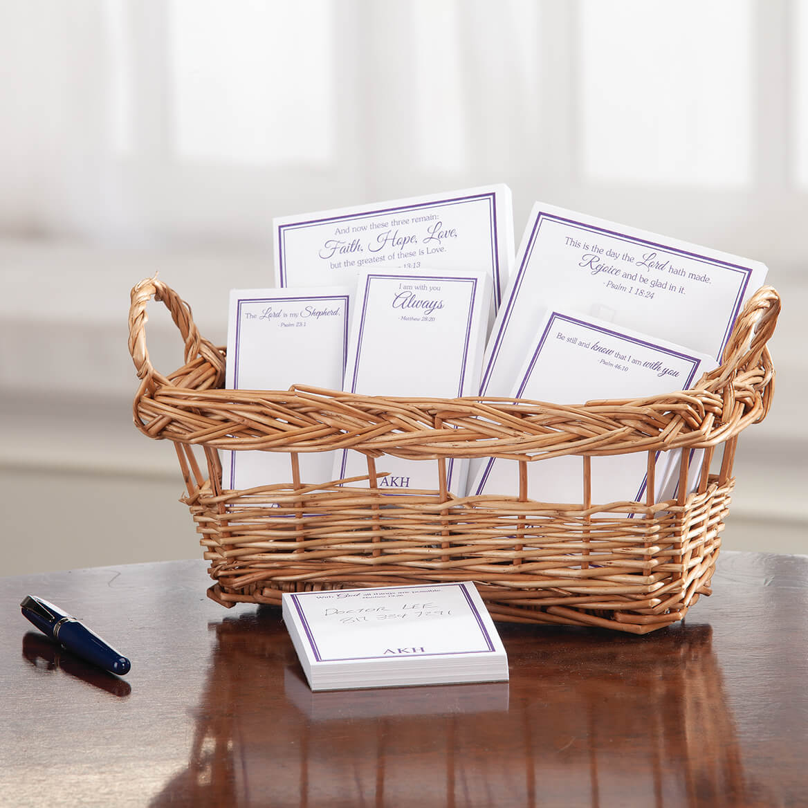 Personalized Basketful of Notes with Bible Quotes-371296