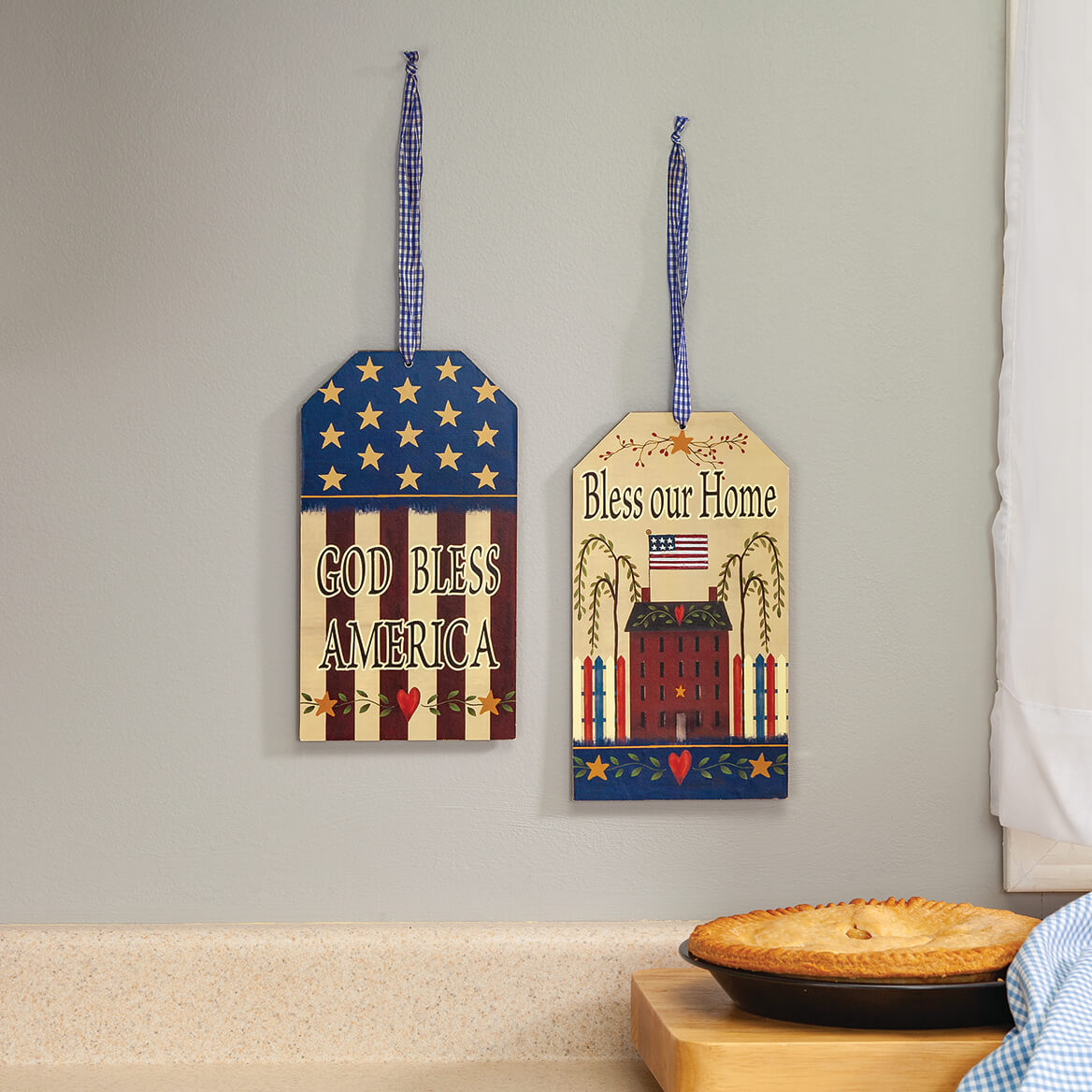 Patriotic Wall Tags, Set of 2 by Holiday Peak™-371325