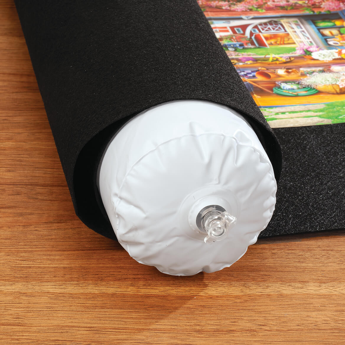 Puzzle Roll Up Mat with Inflatable Tube-371357