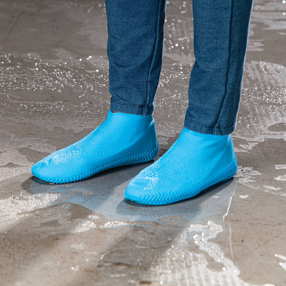 Waterproof Reusable Silicone Shoe Protectors-371373