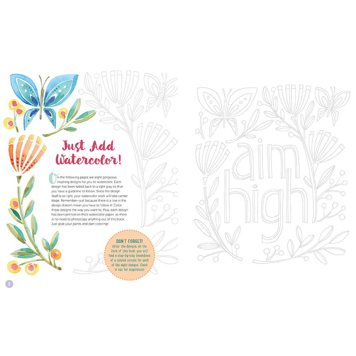 Just Add Watercolor Happy Thoughts Book-371531
