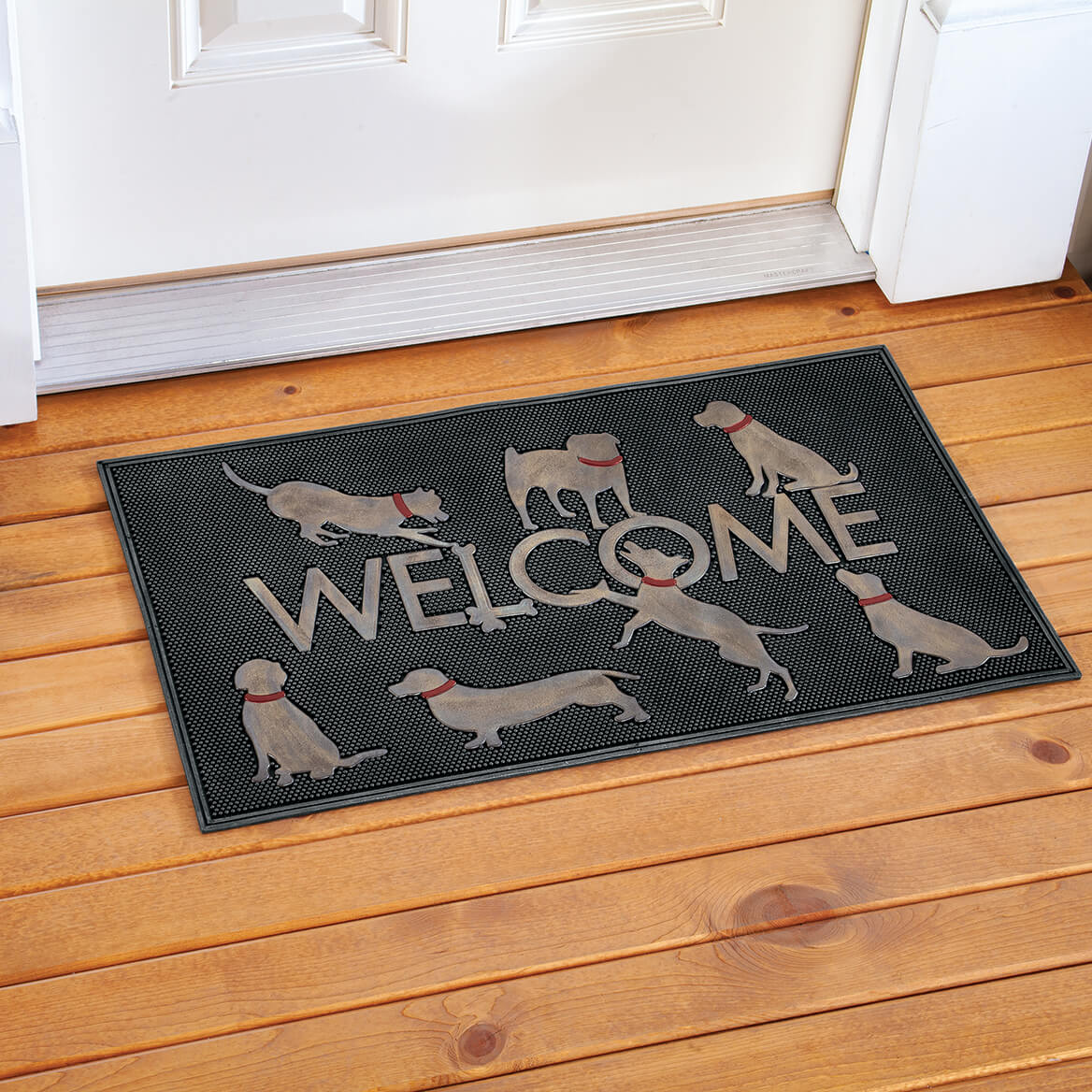 Welcome Dogs Rubber Doormat-371652
