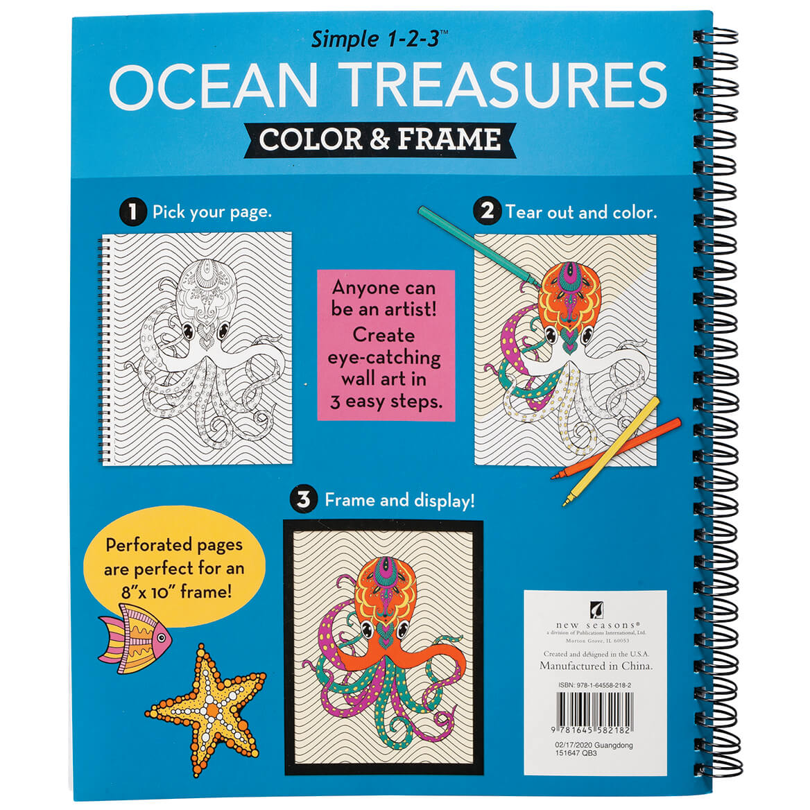 Simple 1-2-3™ Ocean Treasures Color & Frame Book-371705